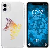 Apple iPhone 11 Silicone Case floral Fox M1-3