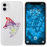 Apple iPhone 11 Silicone Case floral Fox M1-5