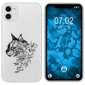 Apple iPhone 11 Silicone Case floral M2-1