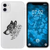 Apple iPhone 11 Silicone Case floral M3-1