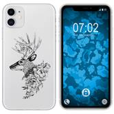 Apple iPhone 11 Silicone Case floral M7-1
