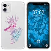 Apple iPhone 11 Silicone Case floral M7-6