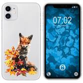 Apple iPhone 11 Silicone Case vector animals Fox M10