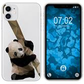 Apple iPhone 11 Silicone Case vector animals Panda M4