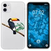 Apple iPhone 11 Silicone Case vector animals M5