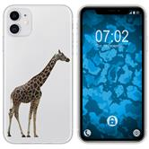Apple iPhone 11 Silicone Case vector animals M8