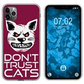 Apple iPhone 11 Pro Silicone Case Crazy Animals M1