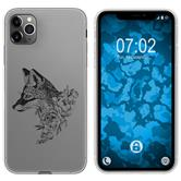 Apple iPhone 11 Pro Max Silicone Case floral Fox M1-1