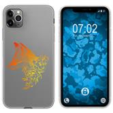 Apple iPhone 11 Pro Silicone Case floral Fox M1-2