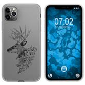 Apple iPhone 11 Pro Max Silicone Case floral M7-1