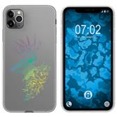 Apple iPhone 11 Pro Max Silicone Case floral M7-4