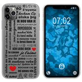 Apple iPhone 11 Pro Max Silicone Case in Love M4