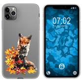 Apple iPhone 11 Pro Max Silicone Case vector animals Fox M10