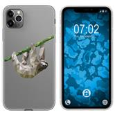 Apple iPhone 11 Pro Silicone Case vector animals sloth M6
