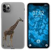 Apple iPhone 11 Pro Max Silicone Case vector animals M8