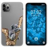 Apple iPhone 11 Pro Max Silicone Case vector animals M9