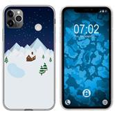 Apple iPhone 11 Pro Max Silicone Case Christmas X Mas M6