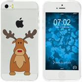 Apple iPhone 5 / 5s / SE Silicone Case Christmas X Mas M3