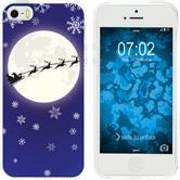 Apple iPhone 5 / 5s / SE Silikon-Hülle X Mas Weihnachten  M4
