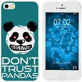 Apple iPhone 5 / 5s / SE Silicone Case Crazy Animals Panda M2