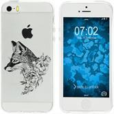 Apple iPhone 5 / 5s / SE Funda de silicona floralzorro M1-1