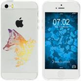 Apple iPhone 5 / 5s / SE Silicone Case floralFox M1-3