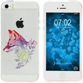 Apple iPhone 5 / 5s / SE Silicone Case floralFox M1-5