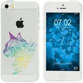 Apple iPhone 5 / 5s / SE Custodia in Silicone floral  M2-4