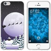 Apple iPhone 6 Plus / 6s Plus Silikon-Hülle X Mas Weihnachten  M5