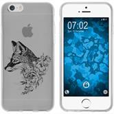 Apple iPhone 6 Plus / 6s Plus Silikon-Hülle Floral  M1-1