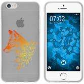 Apple iPhone 6 Plus / 6s Plus Silikon-Hülle Floral  M1-2