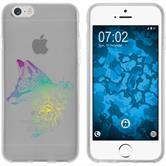 Apple iPhone 6 Plus / 6s Plus Silikon-Hülle Floral  M1-4