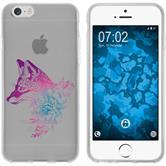 Apple iPhone 6 Plus / 6s Plus Silikon-Hülle Floral  M1-6