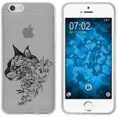 Apple iPhone 6 Plus / 6s Plus Silikon-Hülle Floral  M2-1