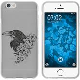 Apple iPhone 6 Plus / 6s Plus Custodia in Silicone floral  M4-1