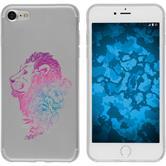 Apple iPhone 8 Custodia in Silicone floral  M6-6