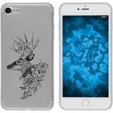 Apple iPhone 8 Coque en Silicone floral M7-1