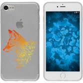 Apple iPhone 7 / 8 Funda de silicona floralzorro M1-2