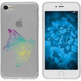 Apple iPhone 7 / 8 Custodia in Silicone floral  M1-4