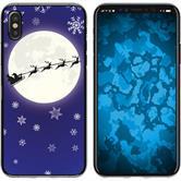 Apple iPhone X / XS Silicone Case Christmas X Mas M4