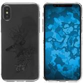 Apple iPhone X / XS Silicone Case floral M7-1