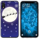 Apple iPhone Xr Coque en Silicone Noël X Mas M4
