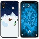 Apple iPhone Xr Silikon-Hülle X Mas Weihnachten  M6