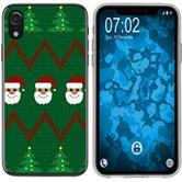 Apple iPhone Xr Silikon-Hülle X Mas Weihnachten  M7