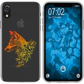 Apple iPhone Xr Silicone Case floral Fox M1-2