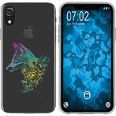 Apple iPhone Xr Silicone Case floral Fox M1-4