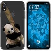Apple iPhone Xr Silicone Case vector animals Panda M4