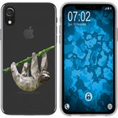 Apple iPhone Xr Silicone Case vector animals sloth M6
