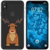 Apple iPhone Xs Max Silicone Case Christmas X Mas M3