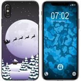 Apple iPhone Xs Max Silicone Case Christmas X Mas M5